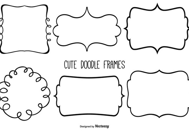 632x443 Cute Doodle Frame Set Free Vector Download 333375 Cannypic