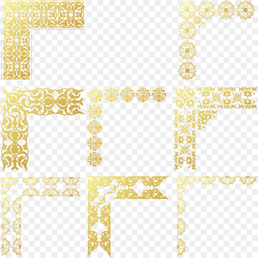 900x900 Gold Frame Vector Png Download