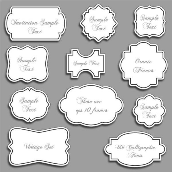 600x600 30 Free Ornaments, Frames Amp Borders Vector Resources