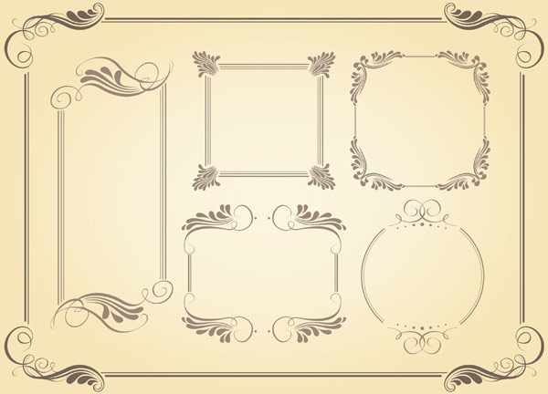 600x432 Simple Frame Vector Free Vector In Encapsulated Postscript Eps