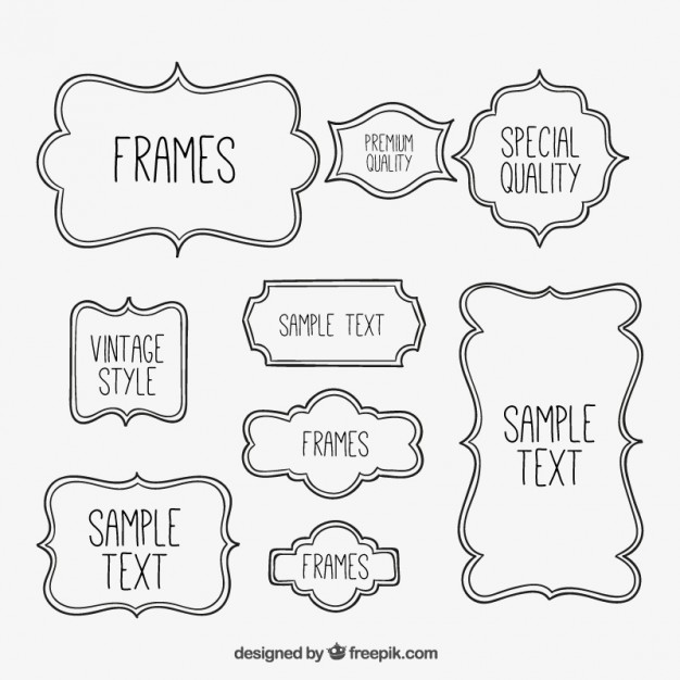 626x626 Sketchy Frames Collection Vector Free Download