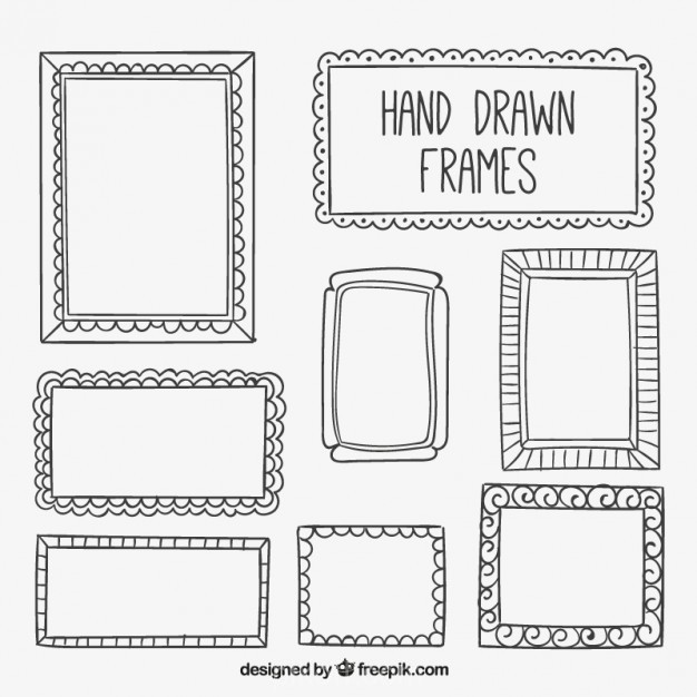 626x626 Ai] Collection Of Hand Drawn Frame Vector Free Download