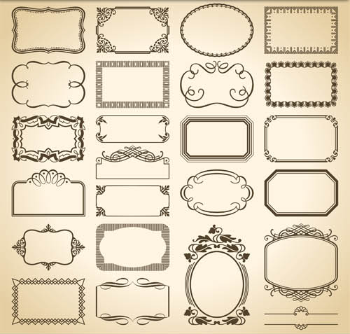 500x477 Decorative Vintage Frames 13 Ai Format Free Vector Download
