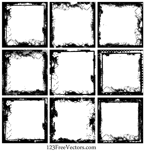 600x620 Free Grunge Frame Vector Free Download Psd Files, Vectors