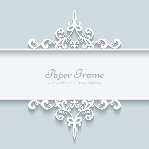 500x500 Lace Ornament Paper Frame Vector 02
