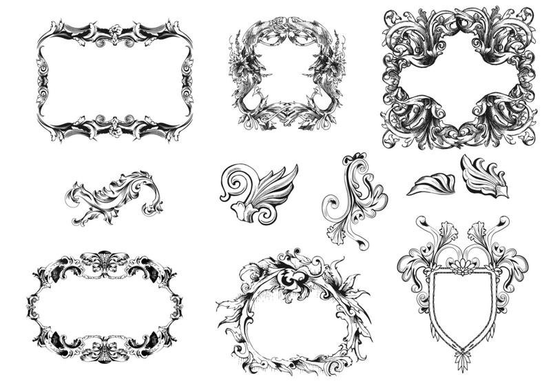 800x560 Ornate Frame Vector Free Victorian Free Vector Art Free Downloads