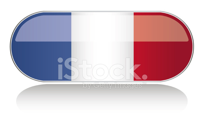 692x440 Bandera Brillante Serie Francia Stock Vector