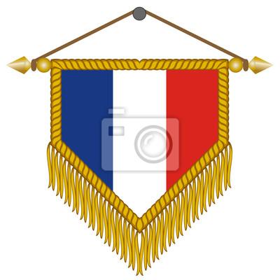 400x400 De Vector Con La Bandera De Francia Fotomural