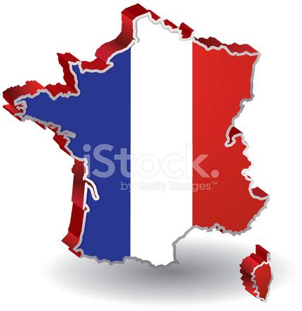 427x440 Mapa De Bandera De Francia Stock Vector
