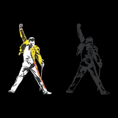 400x400 Freddie Mercury Tribute Logo Vector