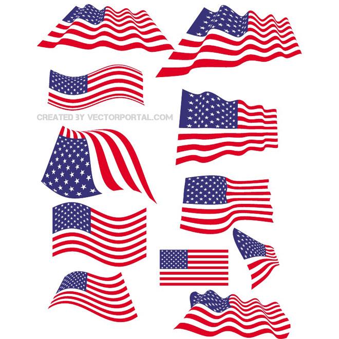 Free American Flag Vector Art