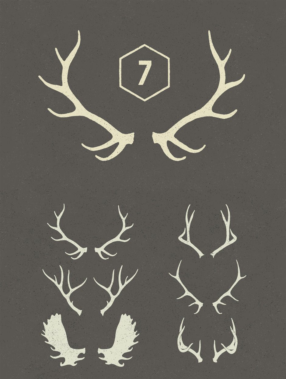 940x1246 Antlers Vectors, Taken From Our Free Christmas Design Bundle Art
