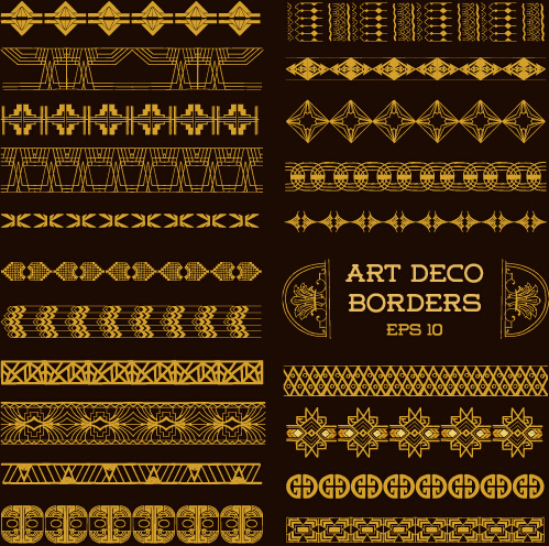 499x496 Deco Art Borders Golden Vector Free Vector In Encapsulated