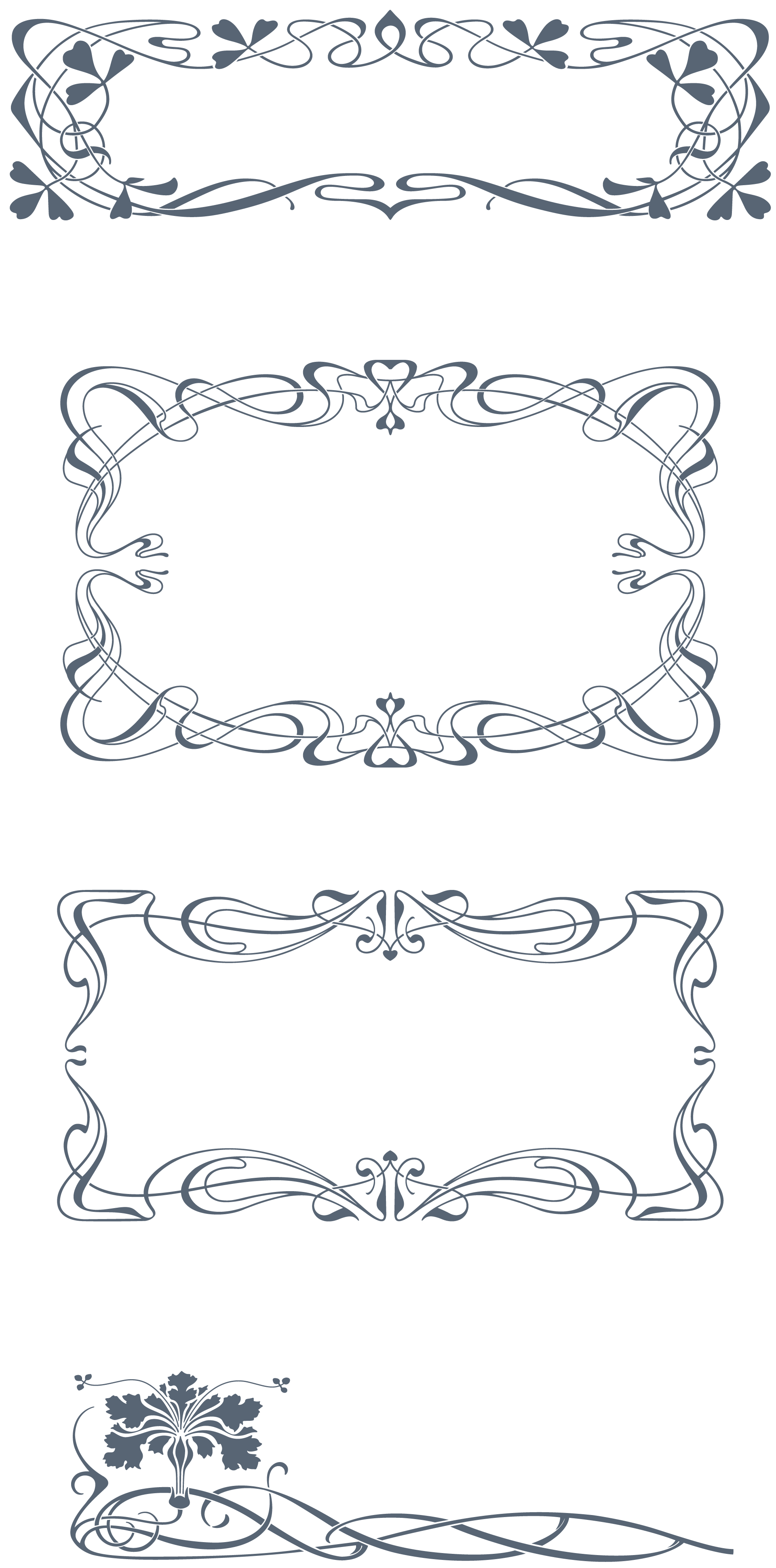 1920x3878 Download Vintage Art Nouveau Art Nouveau 285 Vector Ornaments