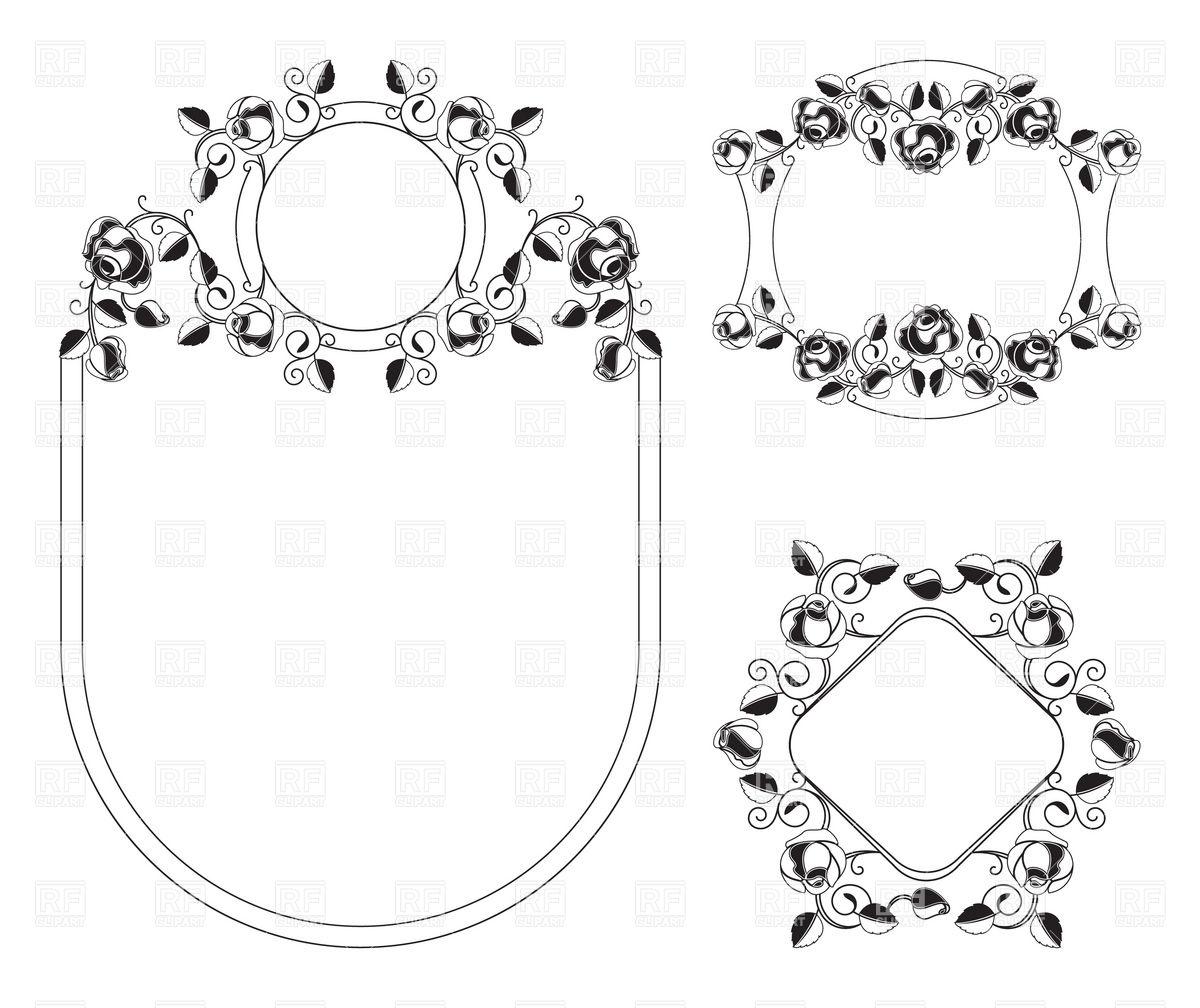 1200x1008 Floral Ornaments Vignette And Frames In Art Nouveau Style Vector