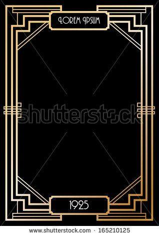 318x470 Image Result For Free Art Deco Templates Art Deco Clip Art