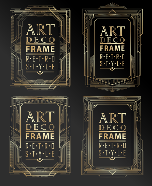 500x611 Retro Styles Art Deco Frames Vector Material 02 Free Download
