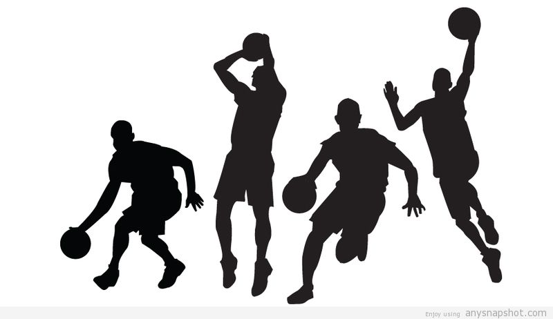 800x462 Basketball Players Free Vectors