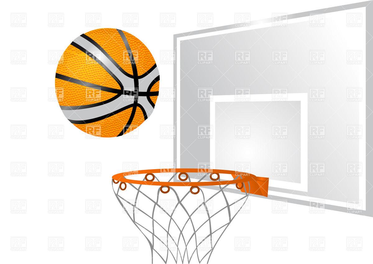 1200x849 Basketball Hoop With Ball Vector Image Vector Artwork Of Sport