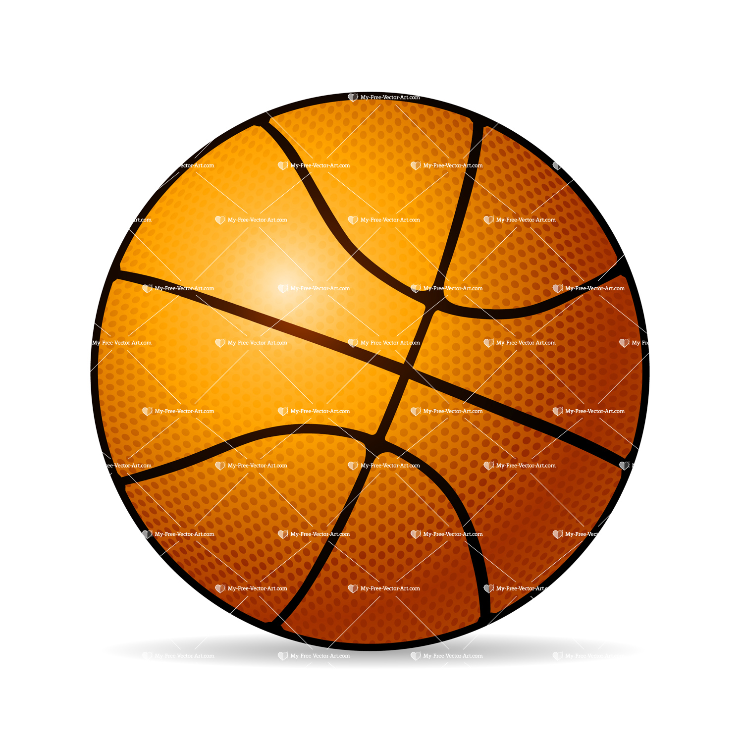 1500x1500 Basketball Vector Illustration Of A Basketball Ready For That