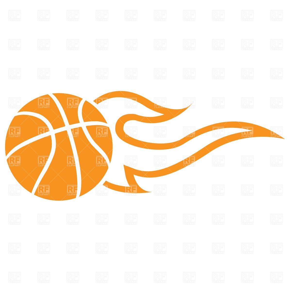 1200x1200 Symbolic Flaming Basketball Ball Vector Image Vector Artwork Of