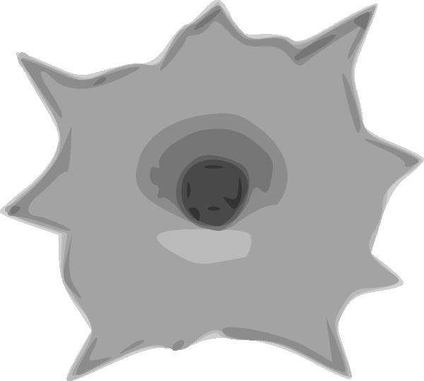 600x540 Bullet Hole Clip Art Free Vector 4vector