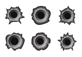 286x200 Bullet Holes Free Vector Art