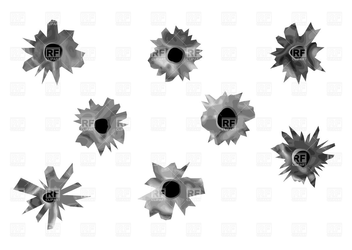 1200x853 Bullet Holes Vector Image Vector Artwork Of Objects Arkela