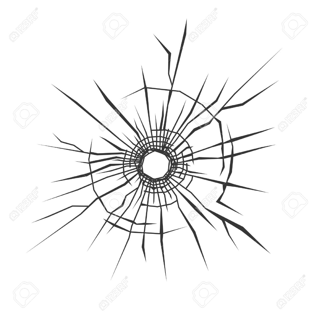 1300x1300 Drawn Bullet Bullet Hole