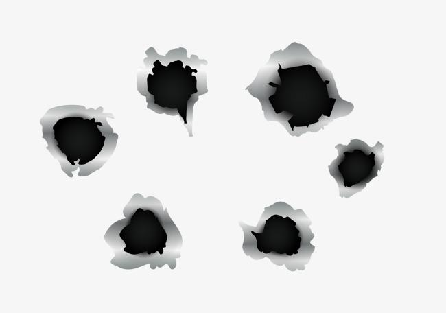 650x456 Black Vector Gun Hole, Bullet Hole, Bullets Shot, Hole Png And