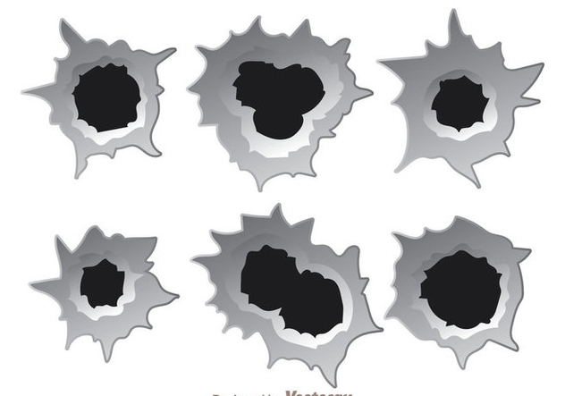 632x443 Bullet Hole Effect Vectors Free Vector Download 303863 Cannypic