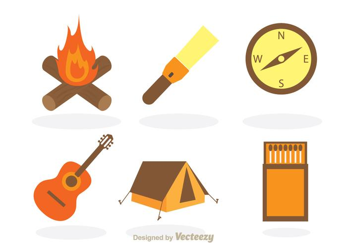 700x490 Camping Vector Items