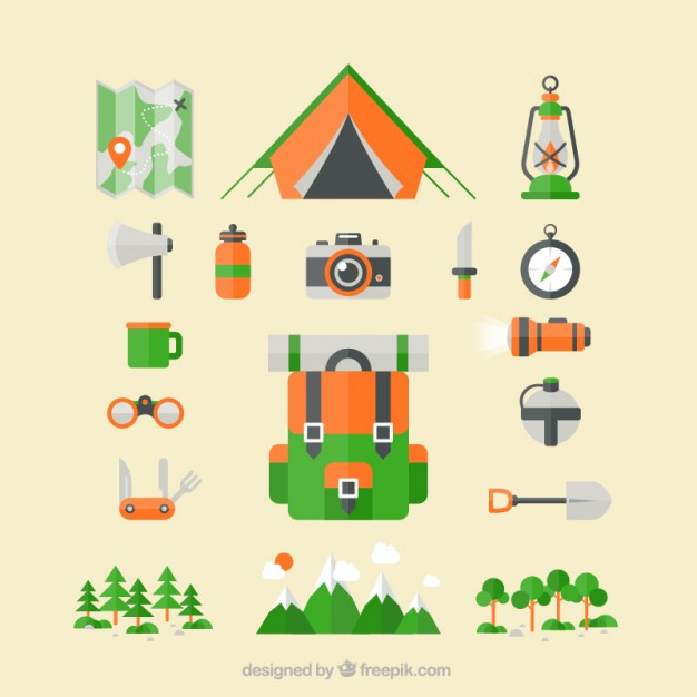 626x626 Camping Icons Vector Premium Download