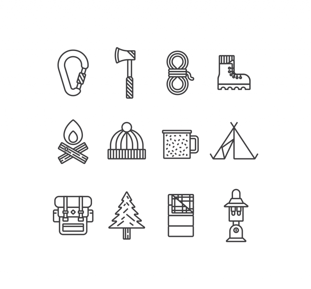 1024x952 Free Camping Vector Icon Sets Hipsthetic