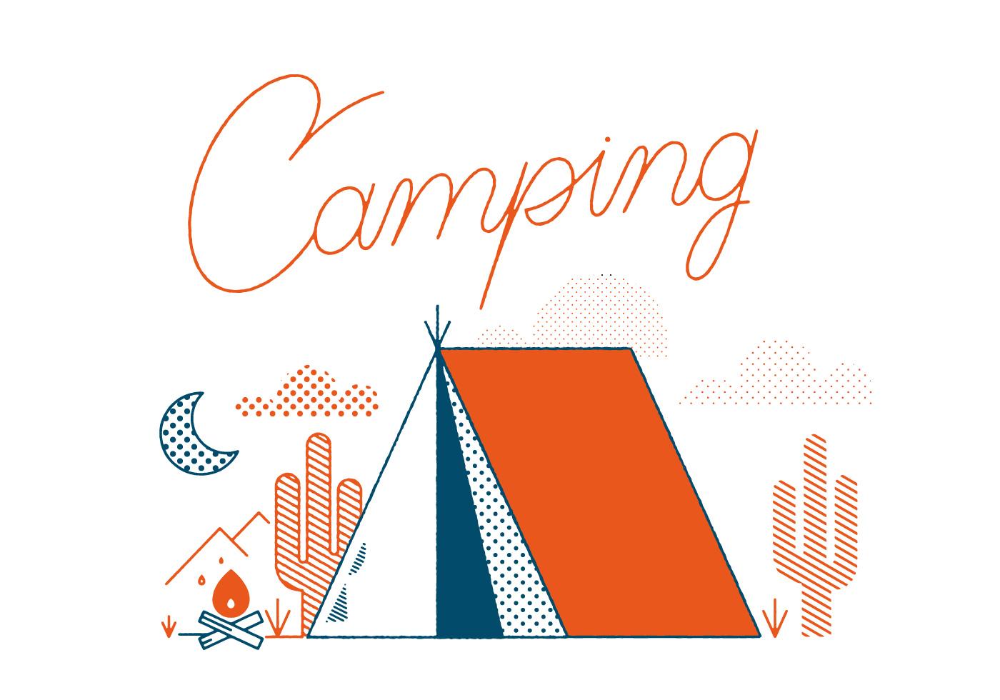 1400x980 Free Camping Vector