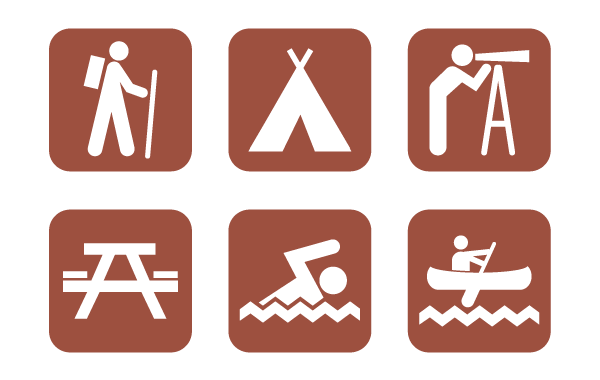 600x380 Free Camping Vector Icons Camping Icons