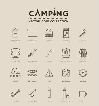 349x373 Free Camping Vector Icons Ac Odation Websites Camp Font