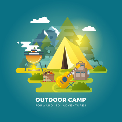 400x400 Page 1 Camping Vector On Curated Vector Illustrations, Stock