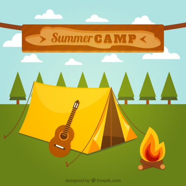 626x626 Summer Camp Vector Free Download