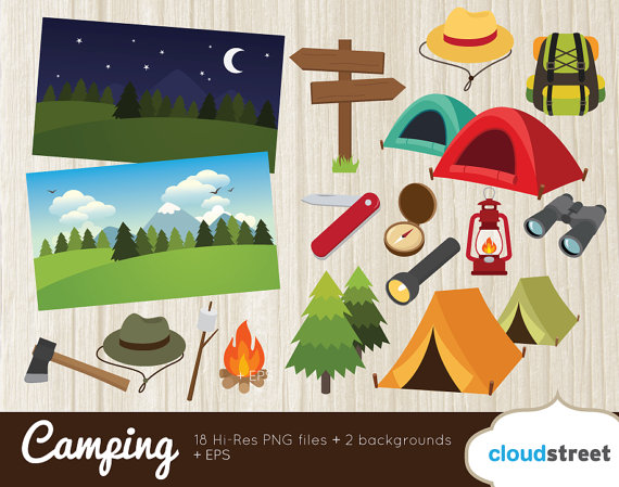 570x449 Buy 2 Get 1 Free Camping Clip Art Hiking Clipart Scout Camp