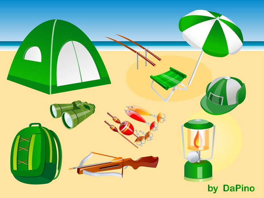 850x637 Camping, Hunting And Fishing Vector Pack Vector Art Amp Graphics