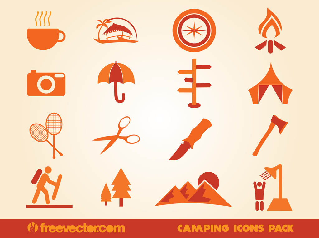 1024x765 Camping Icons Vector Art Amp Graphics