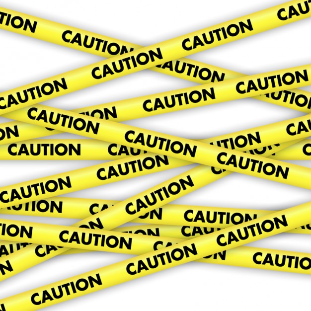 626x626 Caution Yellow Tapes Vector Free Download