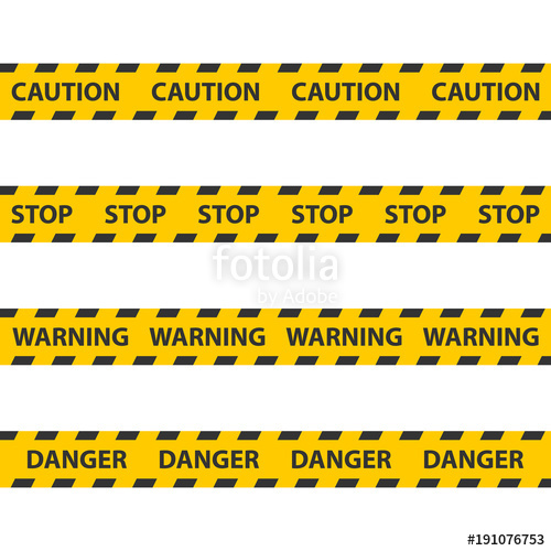 500x500 Caution Tape, Police Line And Danger Tapes. Stock Image And