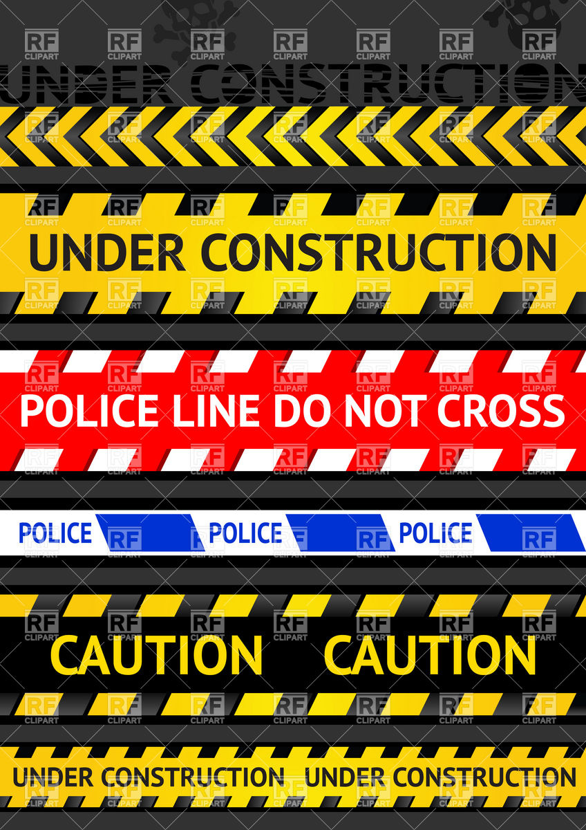 848x1200 Caution Tapes, Strips And Warning Line Vector Image Vector