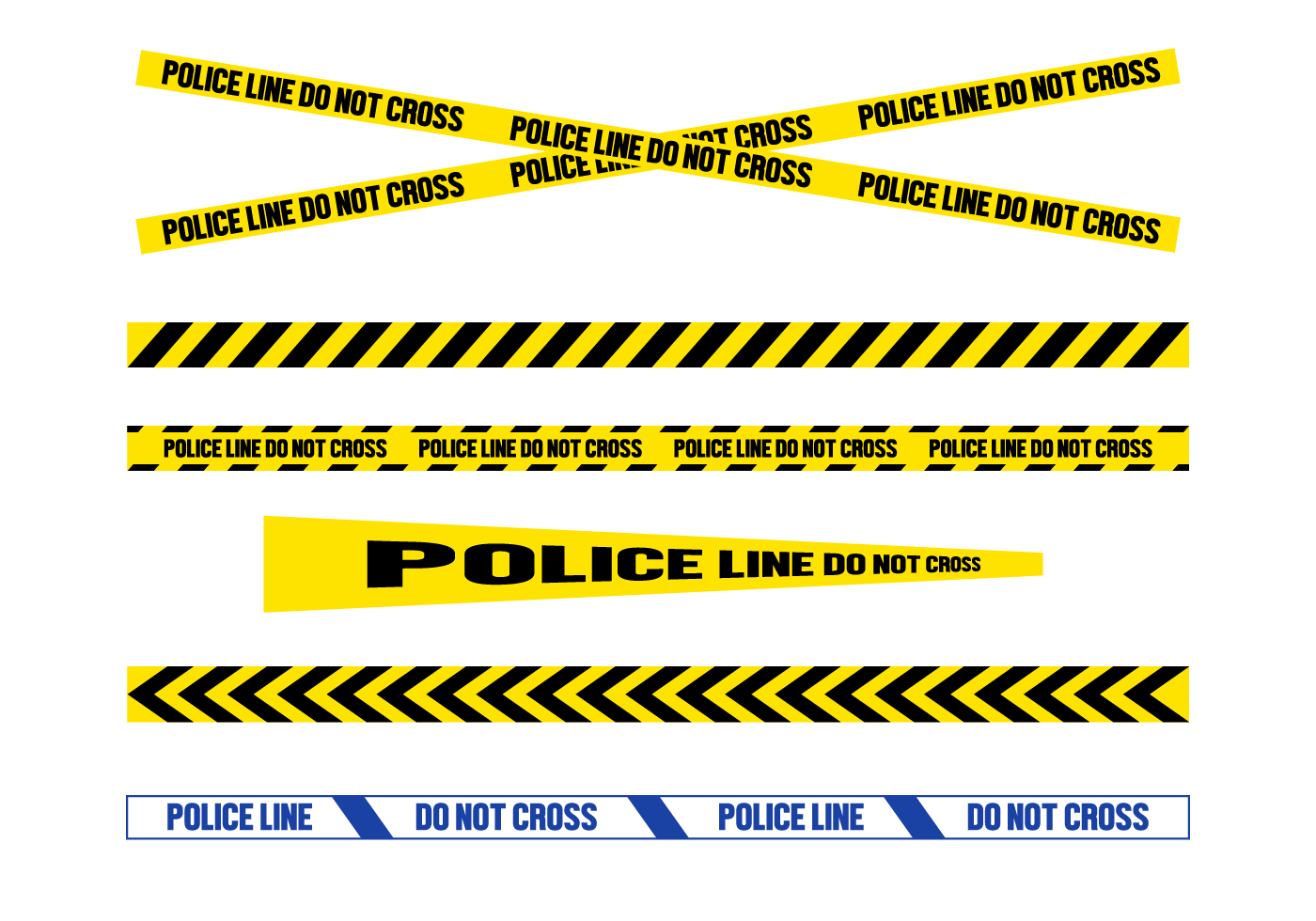 1400x980 Free Police Line Vector