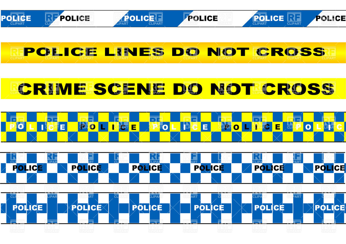 1200x846 Set Of Police Tapes Vector Image Vector Artwork Of Design