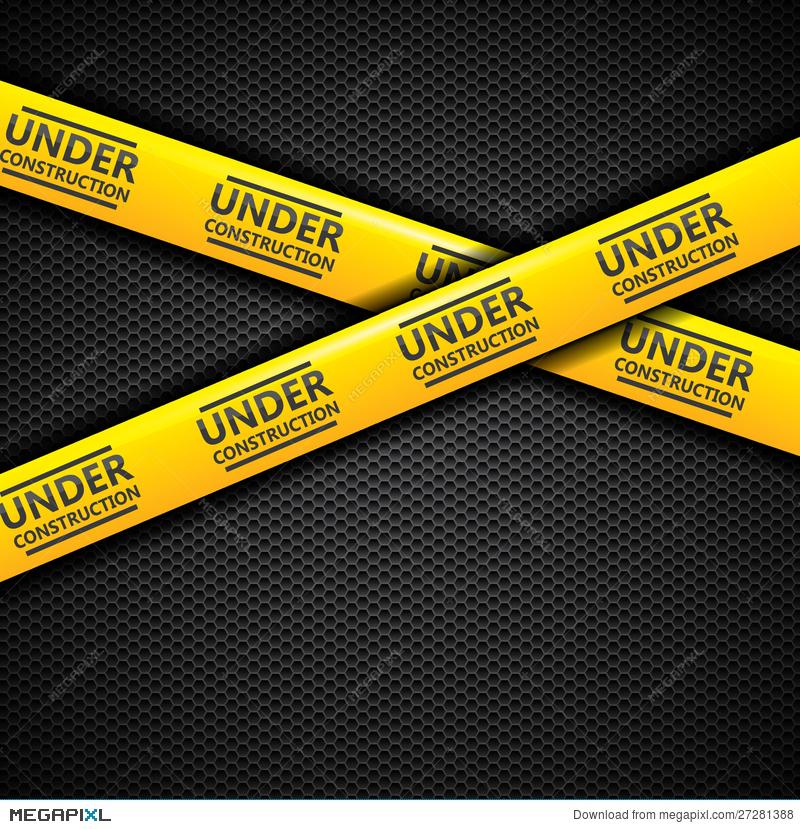800x829 Under Construction Caution Tape, Vector Illustration 27281388