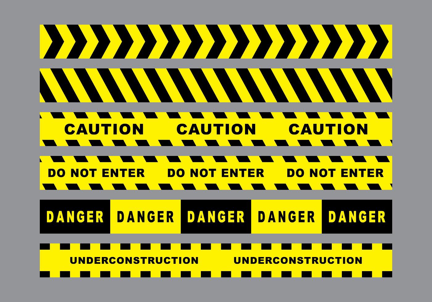 1400x980 Caution Tape Free Vector Art