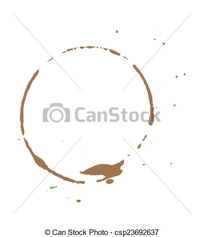 406x470 Dirty Brown Coffee Stain. Abstract Retro Grunge Coffee Stain